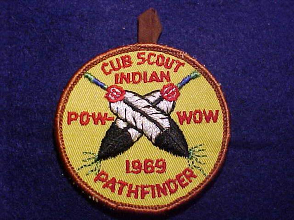 1969 PATCH, CUB SCOUT INDIAN POW-WOW, PATHFINDER