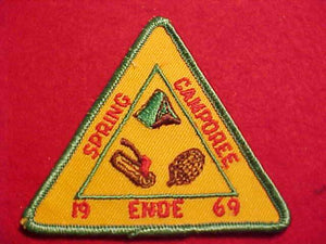 1969 PATCH, ENDE SPRING CAMPOREE