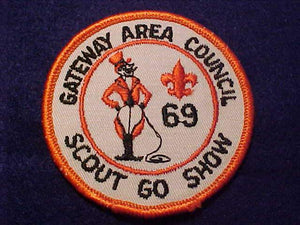 1969 PATCH, GATEWAY AREA C. SCOUT GO SHOW