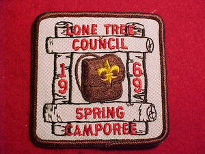 1969 PATCH, LONE TREE C. SPRING CAMPOREE