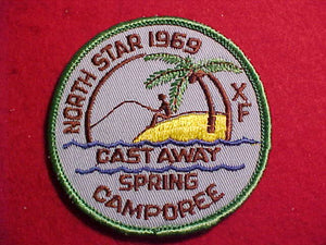 1969 PATCH, NORTH STAR, CAST AWAY SPRING CAMPOREE