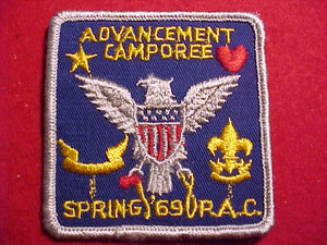 1969 PATCH, P.A.C. ADVANCEMENT CAMPOREE
