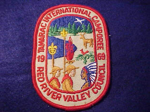 1969 PATCH, RED RIVER VALLEY C. TAMARAC INTERNATIONAL CAMPOREE