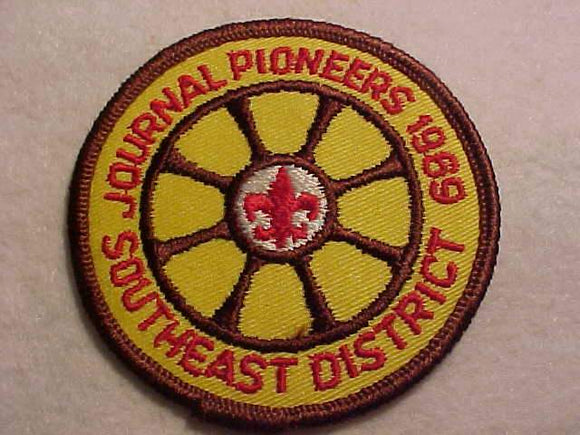 1969 PATCH, SOUTHEAST DISTRICT JOURNAL PIONEERS