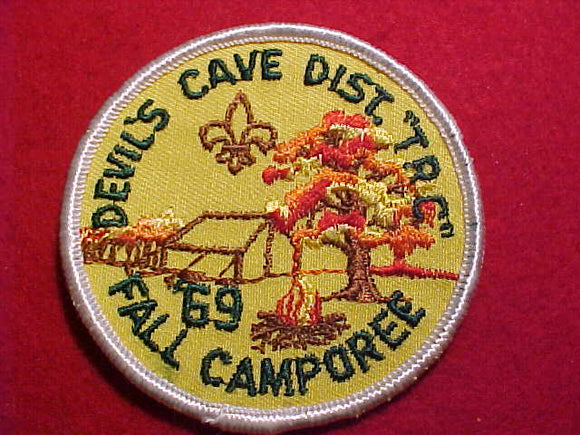 1969 PATCH, THREE RIVERS C., DEVIL'S CAVE DISTRICT FALL CAMPOREE