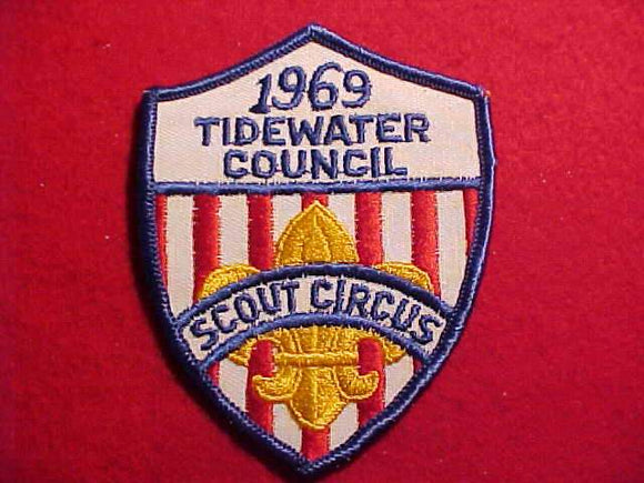 1969 PATCH, TIDEWATER C. SCOUT CIRCUS