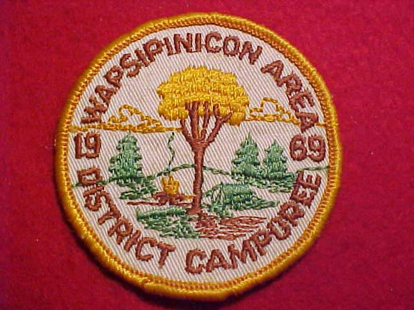 1969 PATCH, WAPSIPINICON AREA C. DISTRICT CAMPOREE, USED