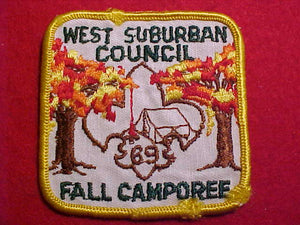 1969 PATCH, WEST SUBURBAN C. FALL CAMPOREE, USED
