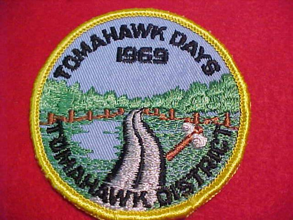 1969 PATCH, TOMAHAWK DAYS, TOMAHAWK DISTRICT