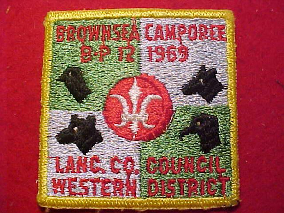 1969 PATCH, LANCASTER COUNTY C., WESTERN DISTRICT BROWNSEA CAMPOREE