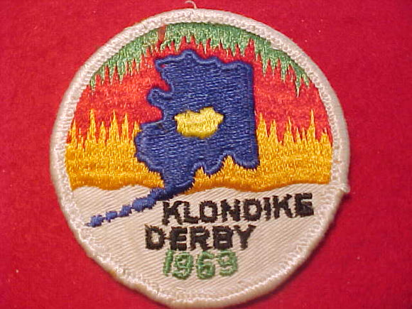 1969 PATCH, ALASKA KLONDIKE DERBY, USED
