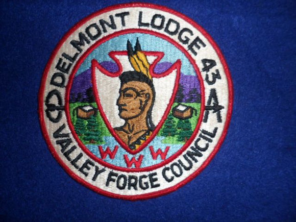 Lodge 43 Delmont J1 Merged 1996 Used Jacket Patch