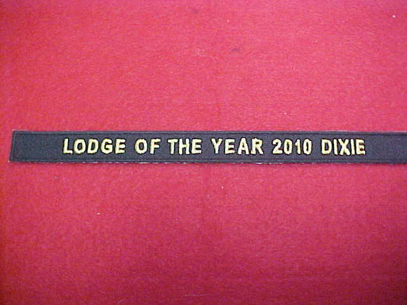 134 X23? Tsali, Lodge of the Year, 2010 Dixie, segment to jacket patch