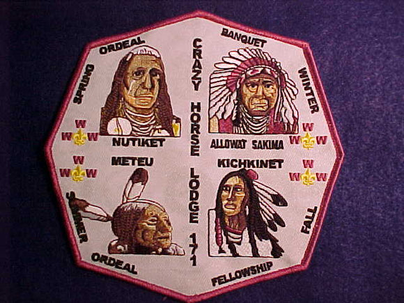171 J? CRAZY HORSE JACKET PATCH, UNKNOWN YEAR