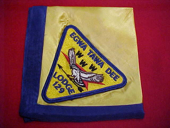 129 P1 EGWA TAWA DEE JACKET PATCH ON SATIN NECKERCHIEF