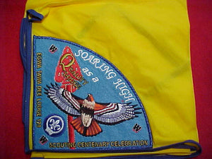 129 P2 EGWA TAWA DEE, QUALITY LODGE, SCOUTING CENTENARY CELEBRATION, ON YELLOW NECKERCHIEF