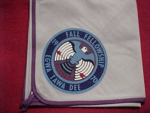 129 eN1970-2 EGWA TAWA DEE NECKERCHIEF, 1970 FALL FELLOWSHIP