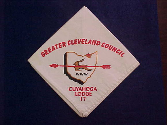 17 N1 CUYAHOGA NECKERCHIEF, GREATER CLEVELAND COUNCIL