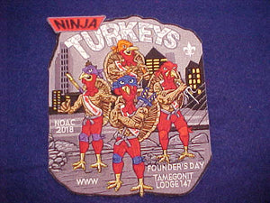 147 J? TAMEGONIT, 2018 NOAC, NINJA TURKEYS JACKET PATCH