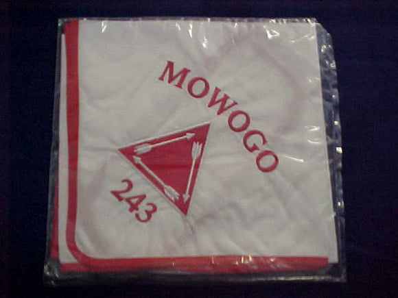 243 N? MOWOGO, VIGIL NECKERCHIEF, SIMILAR TO N4 BUT LARGER EMBROIDERY, NOT IN BLUE BOOK, RARE