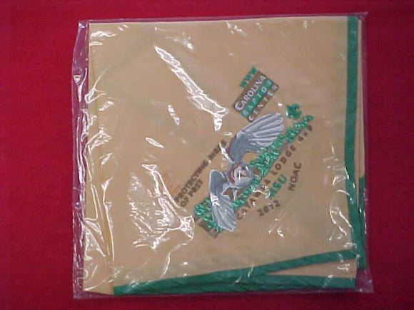 459 N4 CATAWBA, NOAC 2012 CAROLINA RAPTOR CENTER NECKERCHIEF, MINT IN ORIGINAL BAG