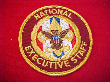 NATIONAL EXECUTIVE STAFF, DARK RED TWILL, 1973+