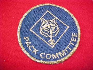 PACK COMMITTEE, METALLIC GOLD WOLF EMBLEM, 1976-83