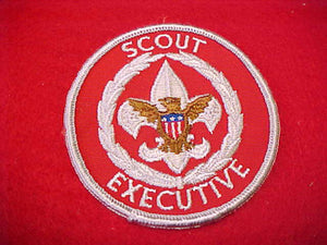 SCOUT EXECUTIVE, SILVER FDL, CLOTH BACK, 1970-72