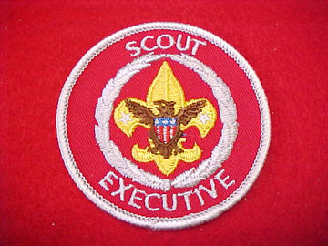 SCOUT EXECUTIVE, GOLD FDL, PLASTIC BACK, 1972-90