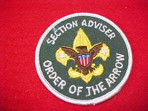 SECTION ADVISER, ORDER OF THE ARROW, DARK GREEN TWILL, 1973-PRESENT