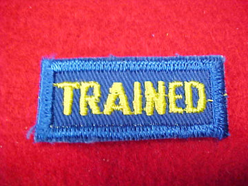 TRAINED, CUB SCOUT LEADER ISSUE, BLUE/YELLOW