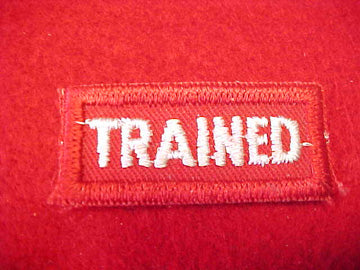 TRAINED, BOY SCOUT LEADER ISSUE, RED/WHITE