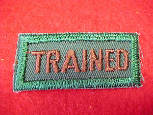 TRAINED, EXPLORER LEADER ISSUE, BROWN/GREEN