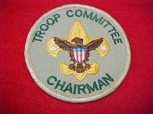 TROOP COMMITTEE CHAIRMAN, 1989-PRESENT