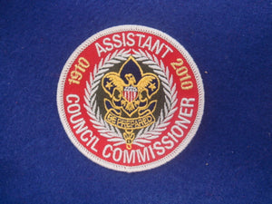 Assistant Council Commissioner 1910-2010