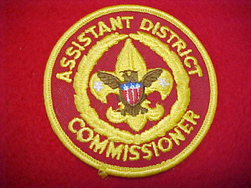 ASSISTANT DISTRICT COMMISSIONER, DARK RED TWILL, 1973+