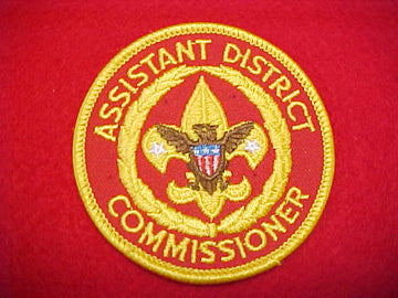 ASSISTANT DISTRICT COMMISSIONER, MED. RED TWILL, 1973+