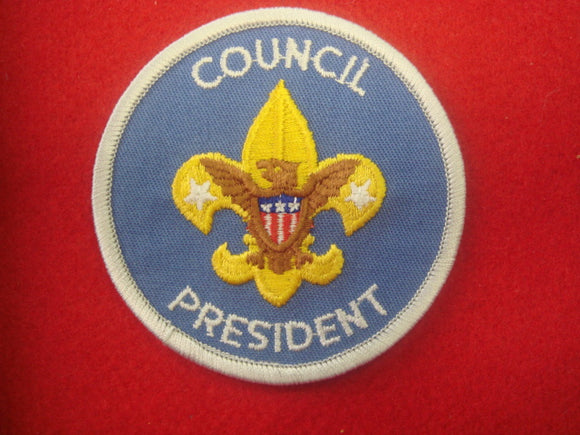 Council President Gray Border CD 1973-Present Medium Blue Twill