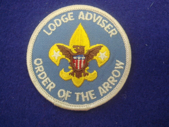Lodge Advisor Order Of The Arrow 1973-2002 Gray Border Large Font