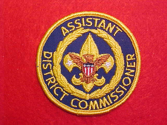 ASSISTANT DISTRICT COMMISSIONER, 1970-72