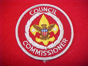 COUNCIL COMMISSIONER, RED TWILL, WHITE BORDER