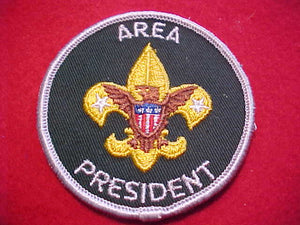 AREA PRESIDENT, 1973-, CLOTH BACK