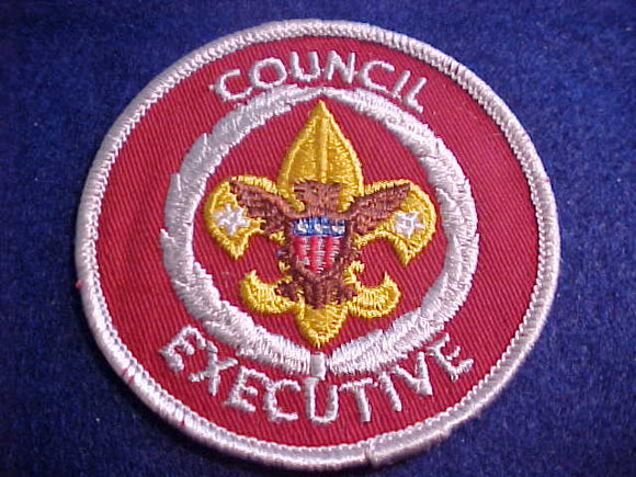 COUNCIL EXECUTIVE, 1972-90, NEAR MINT COND. (STITCH MARKS)