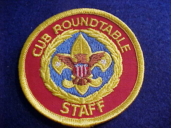 CUB ROUNDTABLE STAFF, PLASTIC BACK, 1972-90