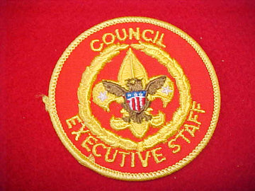 COUNCIL EXECUITVE STAFF, LIGHT RED TWILL, 1973+