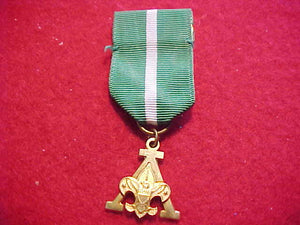 "SCOUTER'S TRAINING AWARD MEDAL, ""A"" DESIGN, STRANGE CO. MFG., GOLD FILLED"
