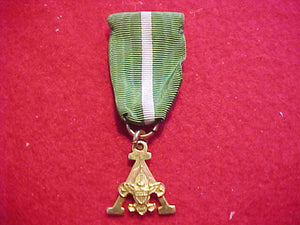 "SCOUTER'S TRAINING AWARD MEDAL, ""A"" DESIGN, GOLD FILLED"