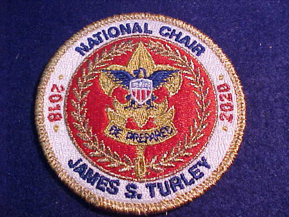 NATIONAL CHAIR JAMES S. TURLEY, 2018-2020, AUTOGRAPHED ON BACK