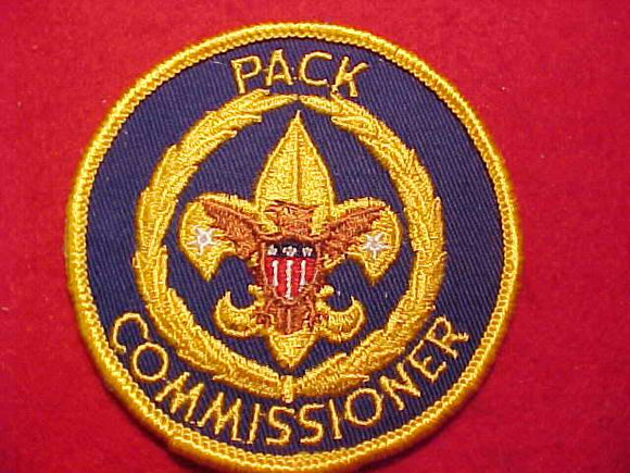PACK COMMISSIONER, CLOTH BACK, NAVY BLUE TWILL, VERY RARE