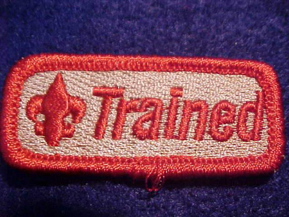 TRAINED, RED/TAN, SMALL SIZE, 22 X 51MM